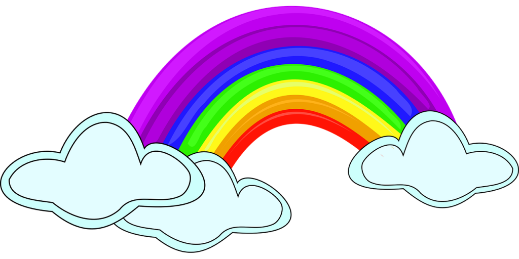 rainbow, design, clipart